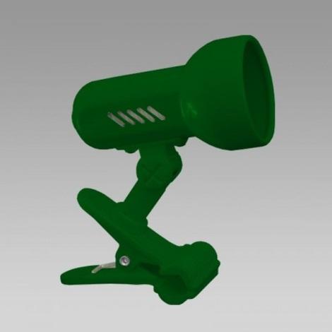 PREZENT 20038 - METRO csipeszes lámpa 1xE27/R80/60W zöld