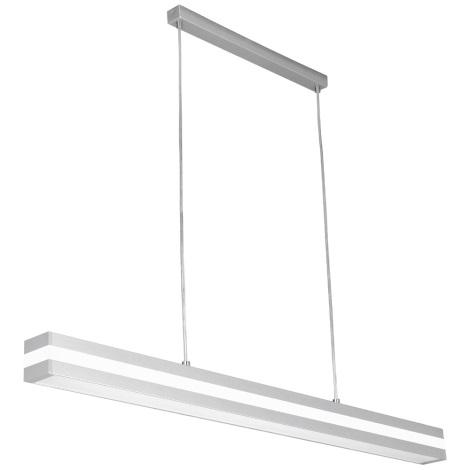PREZENT 22007 - OFINNA fénycsöves függeszték 1xT5/28W ezüst/fehér