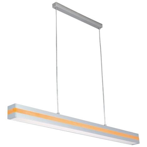 PREZENT 22008 - OFINNA fénycsöves függeszték 1xT5/28W ezüst/narancs