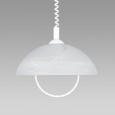 PREZENT 23068 - ALBERT csillár állítható 1xE27/60W fehér 650-1180 mm