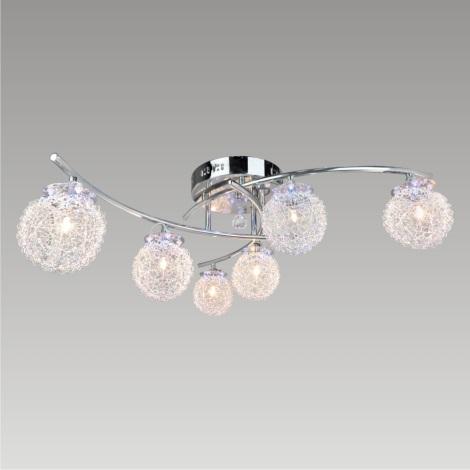 PREZENT 25086 - SAN REMO LED-es csillár 6xG4/20W+28xLED/0,05W