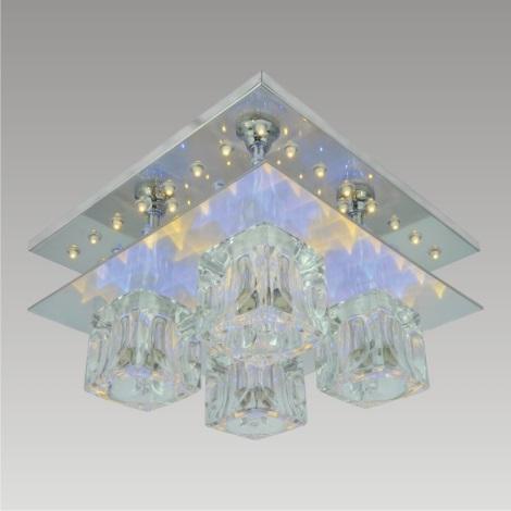 PREZENT 25087 - VEGAS LED-es csillár 4xG9/28W+56xLED/0,05W