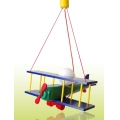 PREZENT 28102 - PLANE BIG gyerek függeszték 1xE27/60W kék/zöld