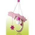 PREZENT 28109 - SKY gyerek függeszték 1xE27/60W rózsaszín/fehér
