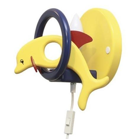 PREZENT 28122 - DELFIN fali lámpa sárga/kék