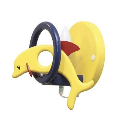 PREZENT 28125 - DELFIN fali lámpa sárga / kék 1xE14/40W