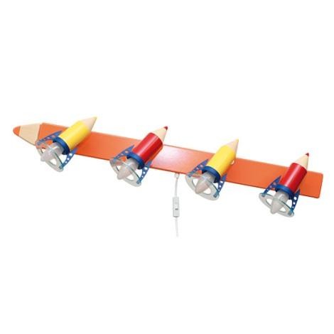 PREZENT 28301 - PASTELKA gyerek fali lámpa 4xE14/25W