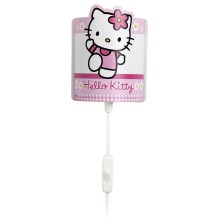 PREZENT 28335 - HELLO KITTY LED-es gyerek fali lámpa 1xE14/0,5W LED