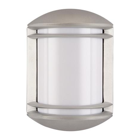PREZENT 3004 - NEW YORK kültéri fali lámpa 1xE27/60W ezüst IP54