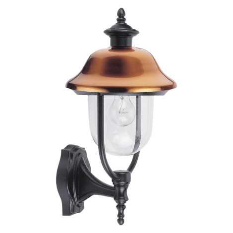 PREZENT 3047 - SANGHAI fali lámpa 1xE27/60W vörösréz IP44
