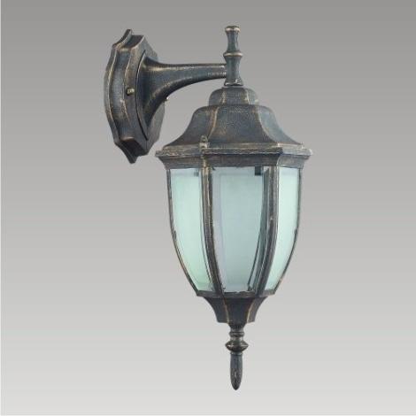 PREZENT 39006 - LIDO kültéri fali lámpa 1xE27/60W fekete/arany IP33