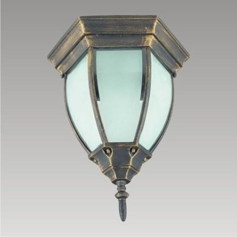 PREZENT 39009 - LIDO kültéri mennyezeti lámpa 1xE27/60W fekete/arany IP33