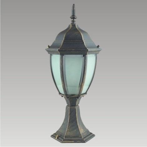 PREZENT 39010 - LIDO kültéri lámpa 1xE27/60W fekete/arany IP33
