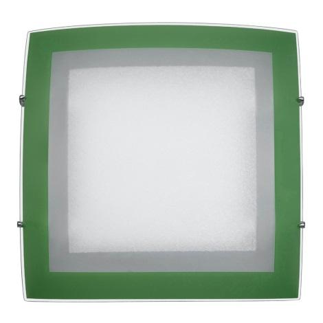 PREZENT 45000 - ARCADA mennyezeti lámpa 1xE27/60W zöld