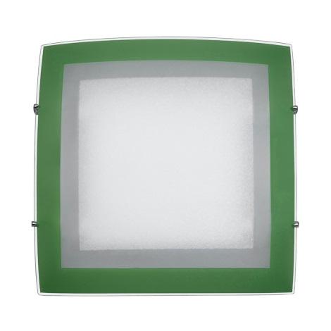 PREZENT 45001 - ARCADA mennyezeti lámpa 2xE27/60W zöld