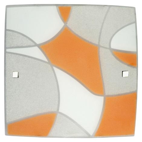 PREZENT 45008 - ASPIS mennyezeti lámpa 3xE27/60W narancs
