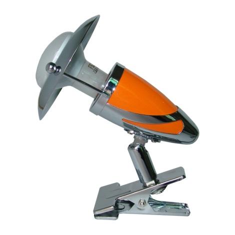 PREZENT 478 - ZEUS CLIP csipeszes lámpa 1xE14/R50/40W narancs
