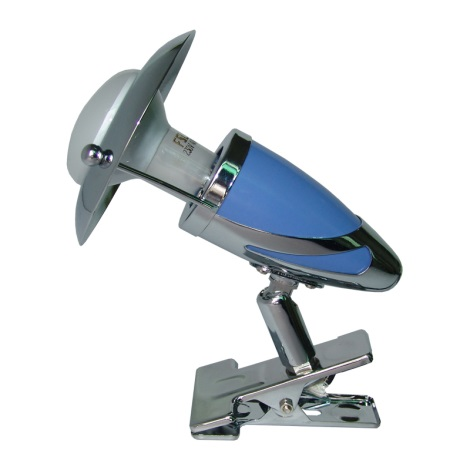 PREZENT 479 - ZEUS CLIP csipeszes lámpa 1xE14/R50/40W világos kék