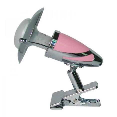 PREZENT 480 - ZEUS CLIP csipeszes lámpa 1xE14/R50/40W rózsaszín
