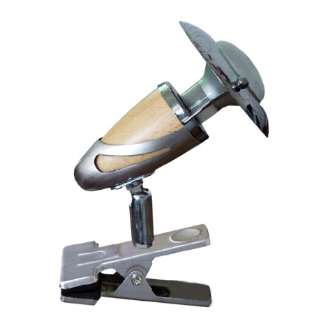 PREZENT 482 - ZEUS CLIP csipeszes lámpa 1xE14/R50/40W világos fa