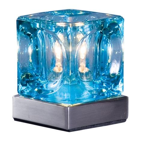 PREZENT 535 - DECORA asztali lámpa 1xG9/40W kék
