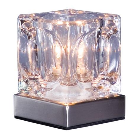 PREZENT 537 - DECORA asztali lámpa 1xG9/40W átlátszó