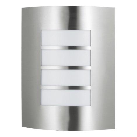 PREZENT 61000 - MEMPHIS kültéri fali lámpa 1xE27/60W rozsdamentes acél IP44
