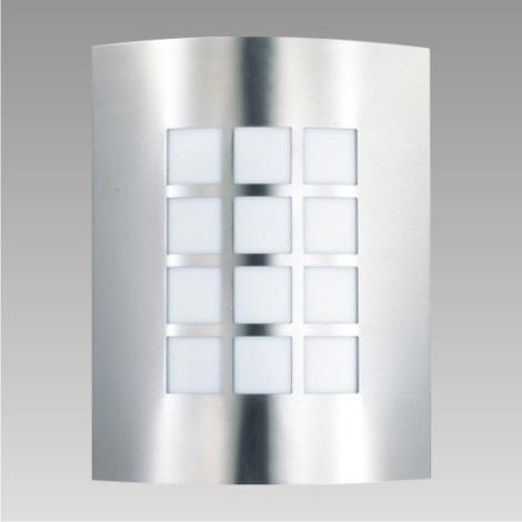 PREZENT 61001 - MEMPHIS kültéri fali lámpa 1xE27/60W rozsdamentes acél IP44