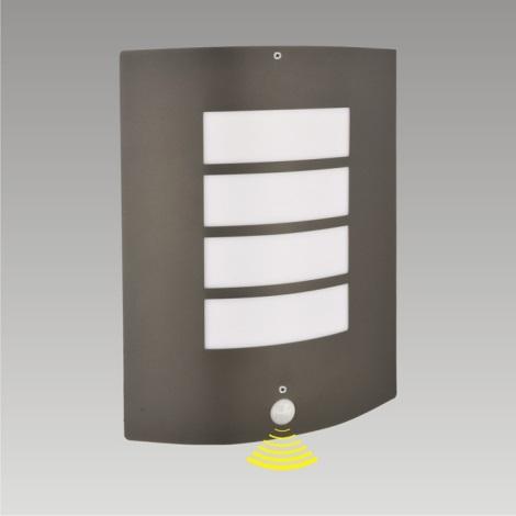 PREZENT 61022 - MEMPHIS szenzoros kültéri fali lámpa 1xE27/60W sötét szürke IP44