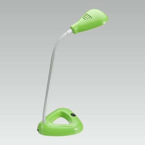 PREZENT 63102 - FLIPP LED-es irodai lámpa 1xSMD LED/4,68W zöld