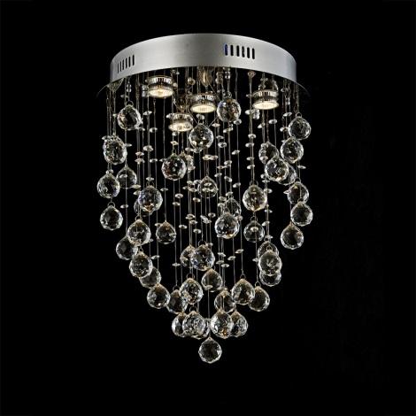 Prezent 64319 - TWISTER kristály mennyezeti lámpa 4xGU10/50W