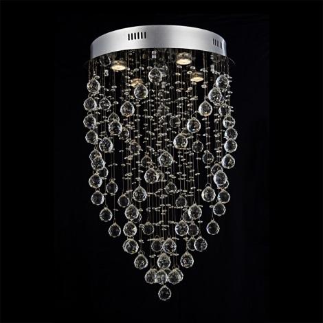 Prezent 64320 - TWISTER kristály mennyezeti lámpa 5xGU10/50W