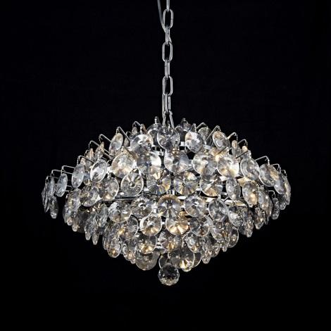 Prezent 64322 - BARONESSA kristály mennyezeti lámpa 5xE14/40W