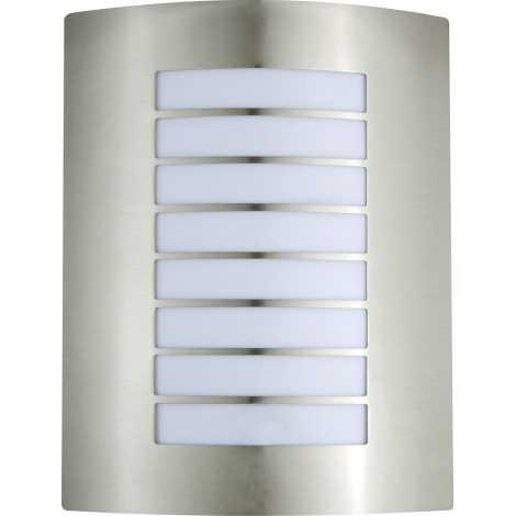 PREZENT 66000 - MEMPHIS kültéri fali lámpa 1xE27/60W rozsdamentes acél IP44