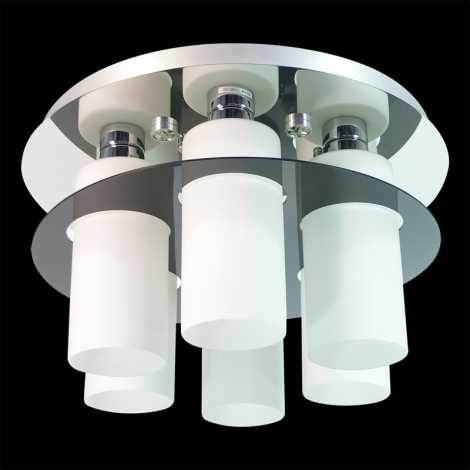 PREZENT 69045 - MACAO mennyezeti lámpa 6xE27/60W+6xLED/3W