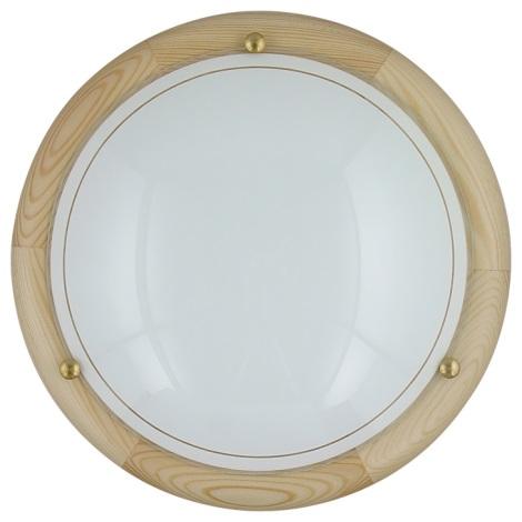 PREZENT 7006 - UFO fali/mennyezeti lámpa 2xE27/60W világos fa