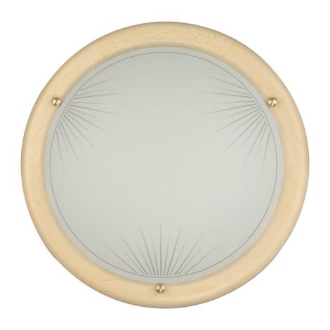 PREZENT 7028 - SUN fali/mennyezeti lámpa 2xE27/60W bükk