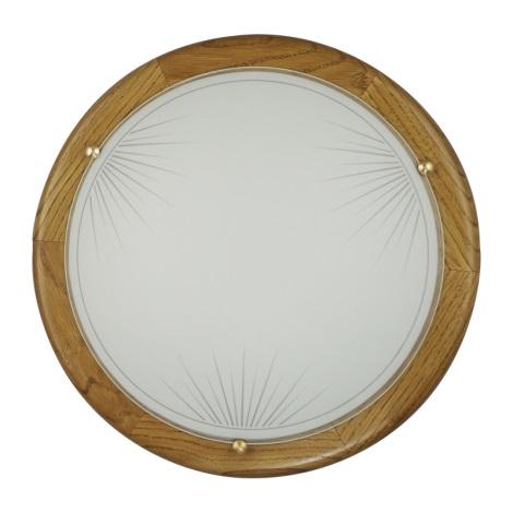 PREZENT 7029 - SUN fali/mennyezeti lámpa 2xE27/60W tölgy