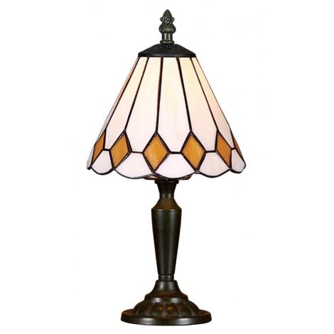 PREZENT 90 - TIFFANY asztali lámpa 1xE14/40W