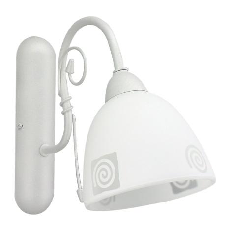 PREZENT 93033 - ROTO fali lámpa 1xE27/60W ezüst/fehér