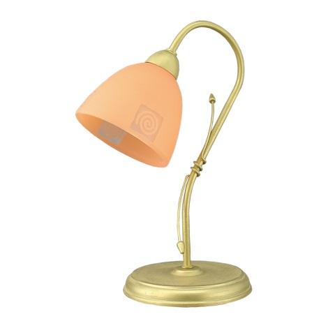 PREZENT 93110 - ROTO asztali lámpa 1xE27/60W arany/narancs