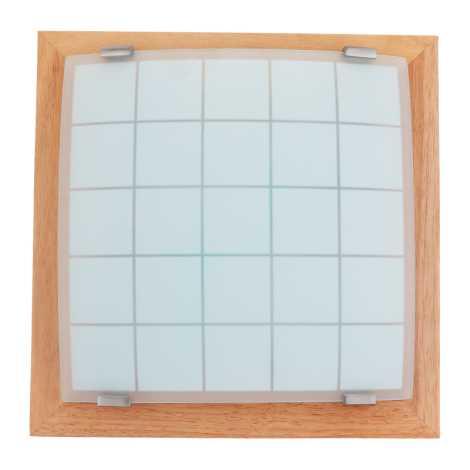 PREZENT 978 - GEOMETRICA fali/mennyezeti lámpa 2xE27/60W világos fa