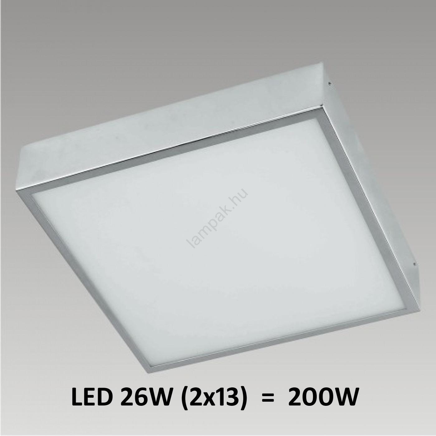 PREZENT LED8035 - FALCON LED-es fürdőszobai fali/mennyezeti lámpa 2xLED/13W IP44  lampak.hu