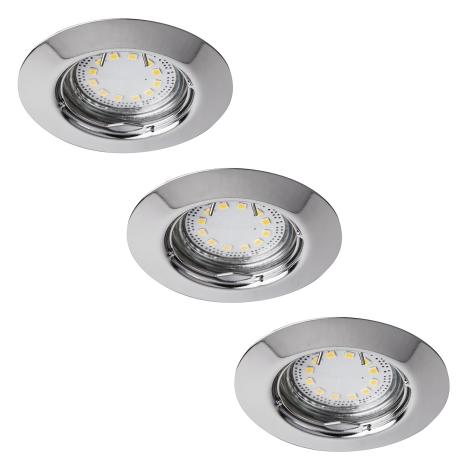 Rabalux 1047 - Készlet 3x LED beépíthető lámpa LITE 3xGU10-LED/3W/230V
