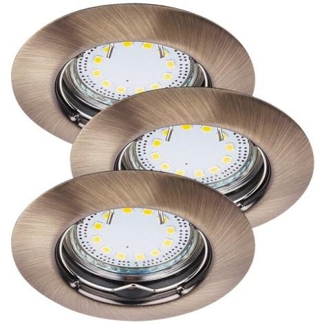 Rabalux 1048 - Készlet 3x LED beépíthető lámpa LITE 3xGU10-LED/3W/230V
