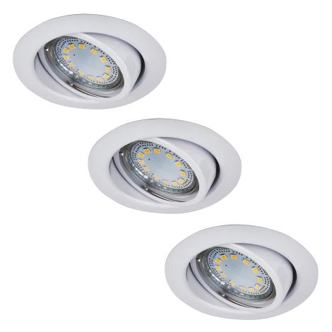 Rabalux 1049 - Készlet 3x LED beépíthető lámpa LITE 3xGU10-LED/3W/230V