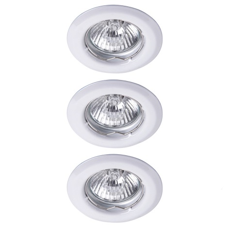 Rabalux 1101 - SADA 3x Beépíthető lámpa SPOT LIGHT 3xGU10/50W/230V