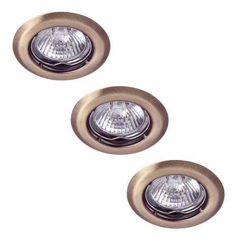 Rabalux 1105 - SADA 3x Beépíthető lámpa SPOT LIGHT 3xGU10/50W/230V