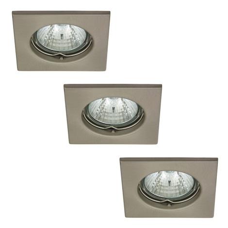 Rabalux 1114 - SADA 3x Beépíthető lámpa SPOT LIGHT 3xGU10/50W/230V