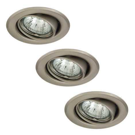 Rabalux 1124 - SADA 3x Beépíthető lámpa SPOT LIGHT 3xGU10/50W/230V